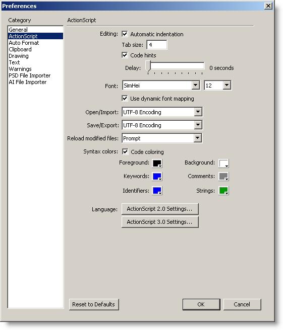 External Double-Byte Fonts in Flash CS3 | David J McClelland